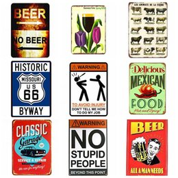 vintage oil signs Promo Codes - Vintage Metal Tin Signs For Wall Decor Oil Motorcycle 20*30cm Garage Champion Coffee Pub Beer Garage Warning Metal Signs Art Home Decor
