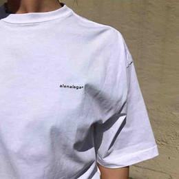 Camiseta de cópias de casal on-line-19ss BLCG Pequeno Logotipo Impressão Tee Moda Casal Verão Homens T-shirt Top Versão XS-L Mulheres HFLSTX374