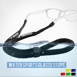Schwimmende gläser online-Schwimmdock Sonnenbrille Kette Watersports Brille Cord Außen Sport eyeglasse eyewear Schnur-Halter-Halsband Lesebrille Goggle