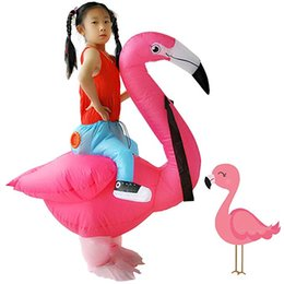 Halloween Flamingo Inflatable Costume Rider Kids Party Fancy Spoof Dress US