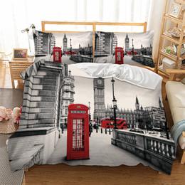 London Tower Bridge Lifelike Design Ensembles Consolateur 3d Linge De Lit Housse De Couette Set Beddind Housse De Couette King Size