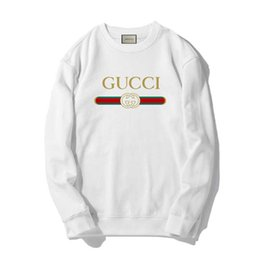 розово-серый пуловер Скидка GUCCI Толстовка Hip Hop Letter Печать Толстовки Мужчины Женщины Пуловеры Streetwear классические толстовки Белый Розовый Серый цвет 3