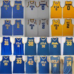 Camiseta de baloncesto ucla online-UCLA Bruins Jersey College Baloncesto Russell Westbrook Lonzo Ball Zach LaVine Kareem Abdul Jabbar Reggie Miller Bill Walton Kevin Love Blue