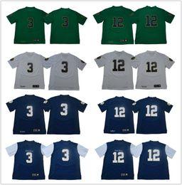 Camiseta de fútbol joe montana online-Hombres luchando Jersey irlandés # 3 Joe Montana # 12 Ian Libro 33 Josh Adams Verde azul marino Blanco 1977 Vintage Norte Dame College Camisetas de fútbol