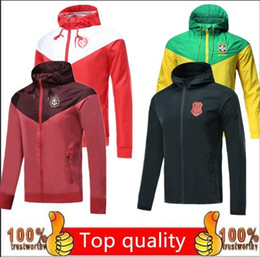 champion hoodies Promo Codes - Top quality PSG jacket Brazil national Gremio windbreaker hoodie Champions League Survetement 2020 PSG MBAPPE football jacket soccer TR