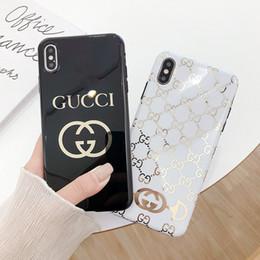 2019 plaque de recouvrement or Italie luxe design TPU cas de téléphone pour iphone x xs max 6 7 8 plus soft touch siliconer placage or haute qualité Couverture de téléphone plaque de recouvrement or pas cher