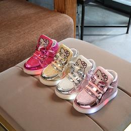 2019 sapatos olá Nova primavera outono inverno das crianças sapatilhas crianças shoes chaussure enfant olá kitty meninas shoes com led light sapatos olá barato