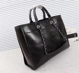 2019 bolsos de color blanco 2018 de alta calidad de las señoras Bolsa de la compra, de hombro del diseñador Bolsa de la compra, casual de las señoras de mano del tamaño Bolsa de compras: 43 * 30 * 13cm