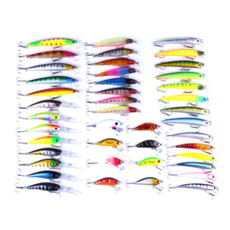 free jigs Promo Codes - 43pcs lot Fly Fishing Lure Set China Hard Bait Jia Lure Wobbler Carp 6 Models Fishing Tackle Wholesale Free Shipping
