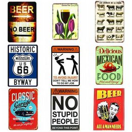 vintage oil signs Promo Codes - Tin Signs Metal Poster Auto Motorcycle Vintage Mobil Motor Oil 30*20cm Gasoline Garage Shop Pub Club Home Wall Decoration Free Shipping