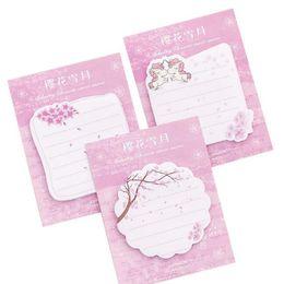 Записная бумага каваи онлайн-30 листов розовые ноты симпатичные сакура бумага единорога самоклеющиеся блокноты блокноты n time заметки школьные канцелярские принадлежности каваи канцтовары