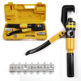 force kit Promo Codes - 6T Hydraulic Crimper Tool Kit Tube Terminals Lugs Battery Wire Crimping Force