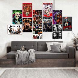 Argentina cartel de la banda de rock Metallica caliente arte de la pared de la vendimia pinturas modernas Carteles de chapa de metal viejo pintura de pared Barra de la decoración del hogar WallpaperT2I5357 Suministro