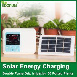 2019 dispositivos solares Novo Dispositivo de Rega Automático Jardim Inteligente de Energia Solar Planta de Carregamento Em Vasos de Irrigação Por Gotejamento Sistema de Temporizador Da Bomba de Água desconto dispositivos solares