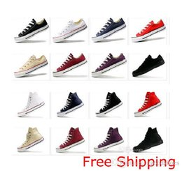 2019 zapatos deportivos de moda Hot Unisex Canvas High low Top Style Sport Hombres jóvenes mujeres zapatos Toda la moda Star Athletic zapatos casuales Fuerte Calidad dorp envío # 28 zapatos deportivos de moda baratos