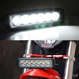 """faróis de nevoeiro mazda cx Desconto 4 Pcs 18 W 6 """"polegadas Car LED Trabalho Luz Bar Flood Driving Fog Lamp Off Road SUV 4WD"""
