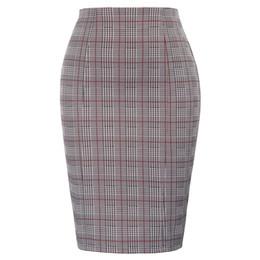 2019 мини-юбки Plus Size Office Ladies Skirt High Waist Swallow Gird Pattern Hips-wrapped Bodycon Skirt Classic Fashion Mini Pencil дешево мини-юбки