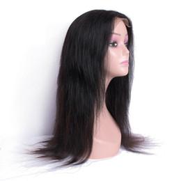 cabelo gaga Desconto Índio brasileiro Humana peruca de cabelo 150% Densidade 4x4 peruca dianteira do laço da Mulher Negra da Malásia Remy Cabelo Humano Pré arrancada peruca dianteira do laço