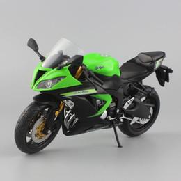 2019 motocicletas de brinquedo 1:12 escala mini kawasaki ninja zx-6r esporte bicicleta de metal motocicleta diecast esporte corrida de estrada modelo de coleção de carro de brinquedo para crianças j190525 motocicletas de brinquedo barato