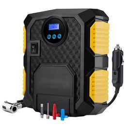 манометр компрессора Скидка Electric Auto Car Air Compressor Pump 12V Portable Tire Inflator with LED Light Digital Pressure Gauge for 12V Cars