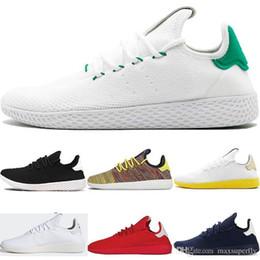 2019 bottes décontractées pour hommes 2018 Classique PW Pharrell Williams Stan Smith Tennis Hu Primeknit Hommes Femmes Casual chaussures Blanc Vert Respirant Marche Casual Chaussure