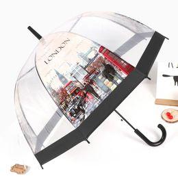 Parapluie de style européen Building Street View Parapluie transparent Cage à oiseaux Apollo épaissie et respectueuse de l'environnement ? partir de fabricateur