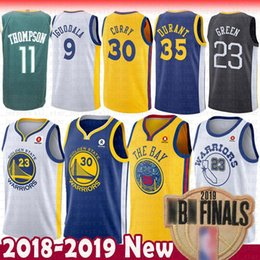 ed1632815 2019 Finals patch retro mens Kevin Golden 35 State Jersey Warriors Durant  30 Stephen Jersey Curry Basketball Jerseys Klay 11 Thompson