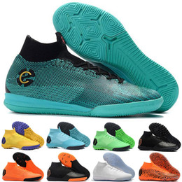 lowest price 734ac 1ebeb 2018 hommes Mercurial Superfly VI 360 Elite ic Chaussures de football pour  Neymar JR ACC INdoor Chaussures de football Cristiano Ronaldo SuperflyX 12  TF ...