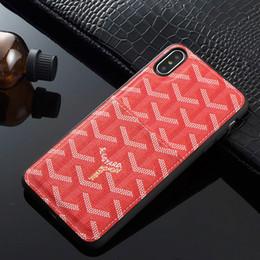 2019 iphone iphone design Marcas de luxo designer de couro PU casos de telefone para o iphone X projeto do saco de Cartão Modelos de Moda Telefone Tampa Traseira para o iphone 6/7/8 além disso xs max xr desconto iphone iphone design