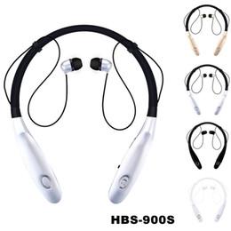 HBS-900S Auricolare Bluetooth 4.0 Auricolari stereo wireless Auricolari sportivi Tone + Infinal Neckbands 5 colori per iPhone Samsung LG da