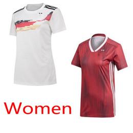 Deutschland einheitliche fußball online-DEUTSCHLAND Frauen WORLD CUP 2019 Trikot nach Hause weg Hemden 2-Sterne-Mädchen Fußballuniformen