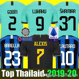 Futebol inter de milão on-line-Mushup 20º aniversário ICARDI LAUTARO Martinez Inter 2019 2020 camisa de futebol de Milão PERISIC NAINGGOLAN campeão jerseys 18 19 20 camisa de jogo de futebol
