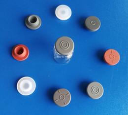 Flaconi di vetro tappi in gomma online-20mm, 50pcs! Molti colori e modelli butil tappo di gomma e gomma siliconica per fiale di vetro, tappo in gomma di tenuta, protezione di gomma,