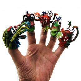 2020 títeres parlantes Pequeño Monstruo Bebé Juguete Marionetas de dedo Hablando Accesorios 5 Animal One Set group Animales lindos Juguetes Regalos Para niños niños títeres parlantes baratos