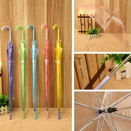 performance metals Coupons - Transparent Clear PVC Umbrella Dance Performance Long Handle Rainbow Umbrellas Beach Wedding Colorful Umbrella For Men Women Kid DBC DH0998