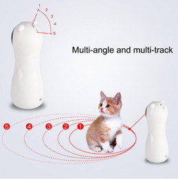 Lasers de gato on-line-Exercício de Treinamento LED Toy Laser Interativo Pet Toy Cat Red Light Laser Cat Entertaining Toy Laser automática Cat Brinquedos engraçado