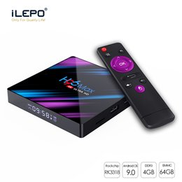 2019 Hot H96 Max Android 9.0 TV Box RK3318 4GB 64GB Quad Core 2.4G / 5G Wi-Fi BT4.0 Smart TV Box от Поставщики tv box 4gb