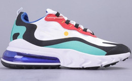 scarpe colore blu per gli uomini Sconti 2020 Nike air max 270 react shoes BAUHAUS white Blue React men running shoes OPTICAL triple black mens womens trainers breathable sports outdoor sneakers