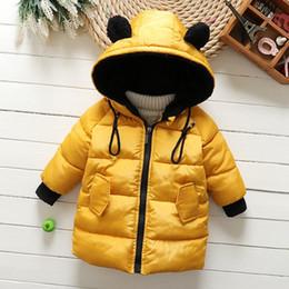große jungs daunenjacke Rabatt 20186New Kid Baby-Mädchen-Winter-Mantel-Big-Pelz-Kragen mit Kapuze Parka-Jacke Hick Warm Solid Color Daunenjacke für Kinder Outwear Kleidung