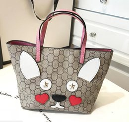 fc9ff41fc9 Fashionable Mother Daughter totes Bags Cartoon Rabbit Little Fox Printing  Girls Handbags