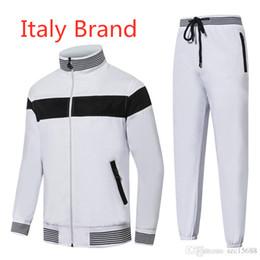 2019 marcas de ropa de italia Italia marca diseñador hombres chándales ropa de golf de invierno hombres GOLF ropa hombres cuello alto chaqueta rompevientos chaqueta para hombre jersey a prueba de viento marcas de ropa de italia baratos