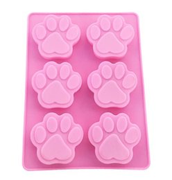 dog silicone cake mould Coupons - New Bar Cookie Baking Molds Dog Paw Silicone Mold Cake Decorating Tools Cookie Cutter Pastry Accessory Kitchen Accessoriess