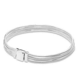 pulseiras com miçangas Desconto Original 925 Sterling Silver Bracelet Reflexões Multi Serpente Cadeia Pandora Pulseira Fit Mulheres Charme Diy Jóias