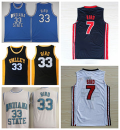 f6f15490967 College Larry Bird Jersey 33 1992 Dream Team One 7 Larry Bird Basketball  Jerseys Springs Valley Indiana State Sycamores High School