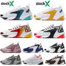 Zoom schwarz online-Nike ZOOM 2K Günstige Original 2017 Lauf Laufschuhe Frauen und Männer schwarz weiß Runings Runing Schuh Athletic Outdoor Turnschuhe eine Größe 36-45