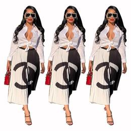 Designer Frauen Sommerkleider Doppel C Buchstaben Faltenröcke Patchwork Kurzer Rock Kontrast Farbe Fashion Party Kleider Kleidung S-2XL von Fabrikanten