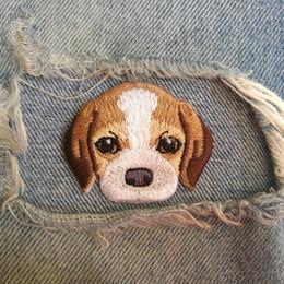 Canada 30 PIC 4.5 * 3.7CM Beagle DOG belle broderie haut de gamme animaux chien enfants tissu patch bricolage patch bord BACK COLLE Offre