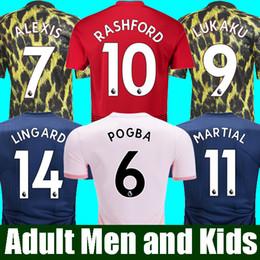 715e2380461 18 19 FC Manchester United Soccer Jerseys 2019 Man Jersey UTD POGBA LUKAKU  RASHFORD MARTIAL Football TOP Shirt Kit MEN and KIDS sets Uniform
