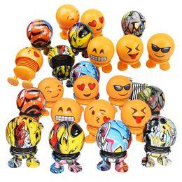 figures d'animaux de la forêt Promotion Emoticon pack voiture secouer la tête décoration voiture poupée créative printemps poupée personnalité drôle de bande dessinée