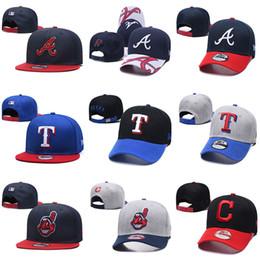 Atlanta coraggiosi cappelli online-2019 donna da uomo Atlanta # Texas # Cleveland nuovo berretto da baseball Snapback maglia cappelli da baseball Braves Rangers indiani cappelli da baseball cappelli firmati